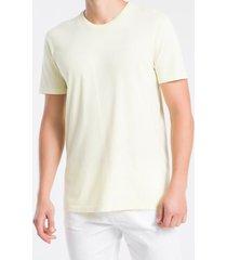 camiseta mc regular silk meia marm gc - amarelo claro - pp