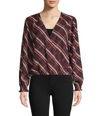 cori wrap blouse