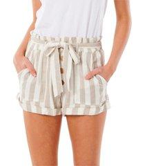 rip curl juniors' ashore striped shorts
