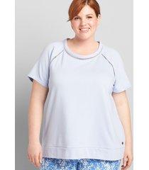 lane bryant women's livi ladder-stitch sweatshirt 10/12 kentucky blue