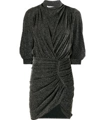 iro absalon twisted mini dress - black