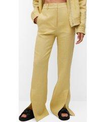 mango women's linen pants