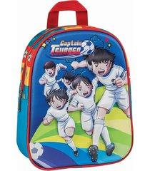 mochila azul captain tsubasa 3d