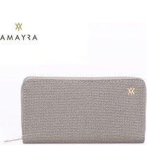 billetera gris mujer amayra fit