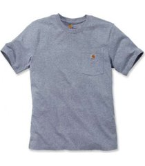 carhartt t-shirt men workwear pocket s/s heather grey-xxl