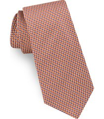 men's ted baker london geometric silk tie, size regular - orange