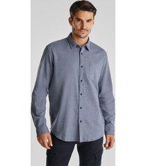 camisa regular con diseño azul acero esprit