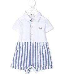 il gufo striped print tracksuit set - white