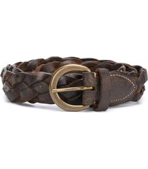 ralph lauren rrl distressed woven belt - brown