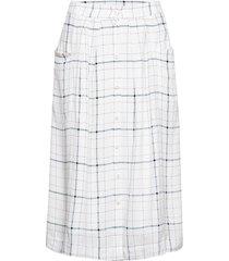 melville skirt knälång kjol vit designers, remix
