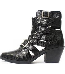 bota gladiadora damannu shoes jennie feminina - feminino