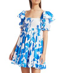 hanna printed babydoll dress