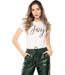 camiseta blanca-multicolor esprit