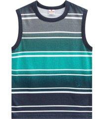 camiseta regata em malha listrada brandili verde - kanui