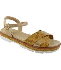 sandália flatform modare ultraconforto feminina