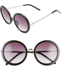 women's bp. 50mm gradient round sunglasses - black