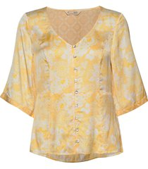 pretty printed blouse blouses short-sleeved geel odd molly