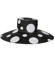 women's eric javits dotty squishee straw hat -