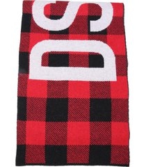 dsquared2 multicolor wool scarf