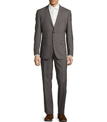 modern fit textured wool suit