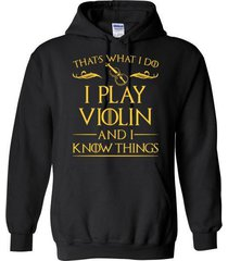 i play violin and i know things blend hoodie