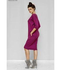 sukienka oversize ida w amarantowym kolorze