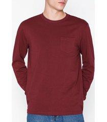topman relaxed ls t-shirt tröjor burgundy