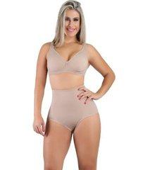 calcinha cintura alta anatômica compressãofeminina - feminino