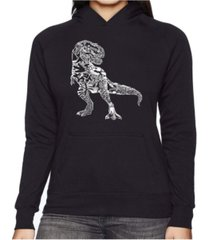 la pop art women's word art hooded sweatshirt -dino pics