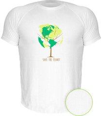 camiseta manga curta nerderia save the planet branco - branco - masculino - dafiti