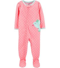 carter's baby girls 1-piece hummingbird footie poly pjs