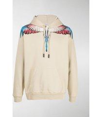 marcelo burlon county of milan wings-print hoodie