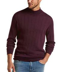 joseph abboud heathered wine 37.5® modern fit mock neck sweater
