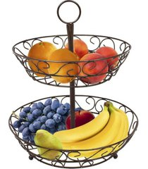 sorbus 2 tier countertop fruit basket holder decorative bowl stand