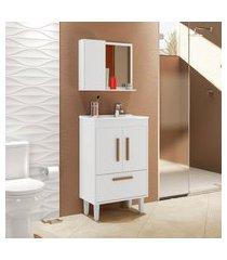 conjunto para banheiro toronto 4 portas móveis bechara branco