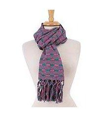 cotton shawl, 'winsome combination' (mexico)