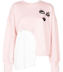 haculla witch hybrid sweatshirt - pink