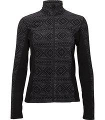 flette fleece sweat-shirt tröja svart kari traa