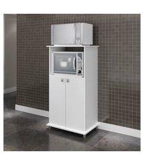 armário para forno/microondas movelbento tradicional 2 portas branco