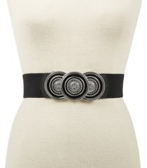 inc round-buckle plus-size stretch belt, created for macy's