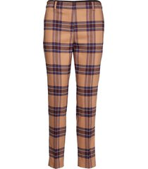 woven pants byxa med raka ben brun marc o'polo