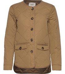 pzelina jacket kviltad jacka brun pulz jeans