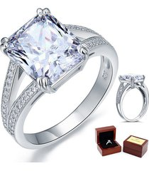 925 sterling silver wedding anniversary engagement ring 6 ct lab created diamond