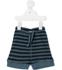 violeta e federico striped shorts - blue