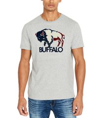 buffalo david bitton men's tapuff flocked logo t-shirt
