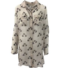 isla ibiza dames blouses blouses-lange-mouw creme