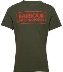 b.intl essential large logo tee t-shirts short-sleeved grön barbour
