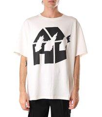 j.w. anderson white and black cotton jwa x dw t-shirt
