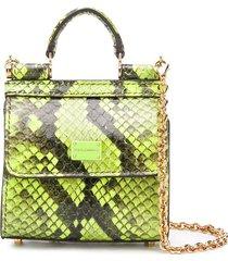 dolce & gabbana micro sicily 58 crossbody bag - green