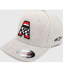 gorra gris-negro-rojo alpinestars axel hat